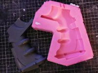 Resin casting Warhammer 40K Bolter parts