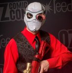 """Deadsuit"" (Deadshot) coplay at Oz Comic-Con Sydney 2016"