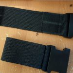 Belt loop sewn up with velcro and clips