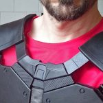 Deadshot Body Armour Chest and collar piece assembly