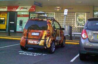Foxtel in disabled carpark
