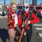 "Suicide Squad Cosplay at Oz Comic-Con Sydney 2016 ""Deadsuit"" (Deadshot) and Infamous Harley Quinn coplay at Oz Comic-Con Sydney 2016"