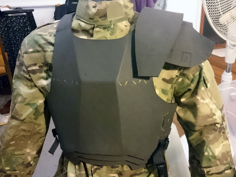 Uscm colonial marine armor pep files cybermike test fit on my mannequin me maxwellsz